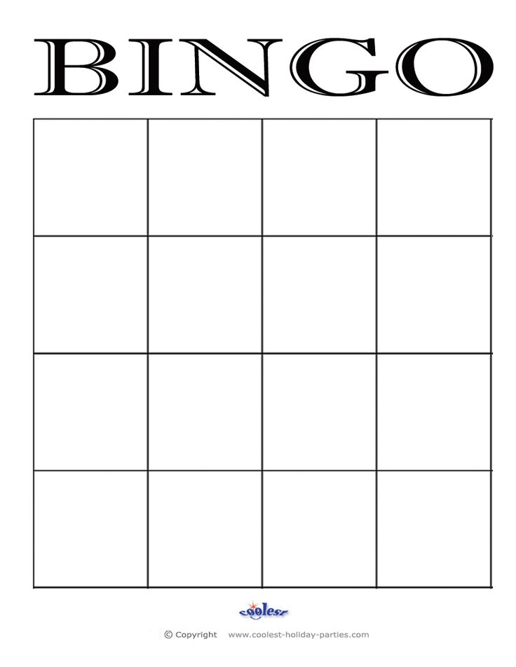 4X4 bingo cards - Google Search