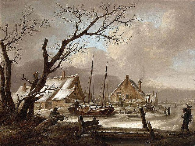Os, Jan Van (1744-1808) - Winter Landscape (Private Collection)