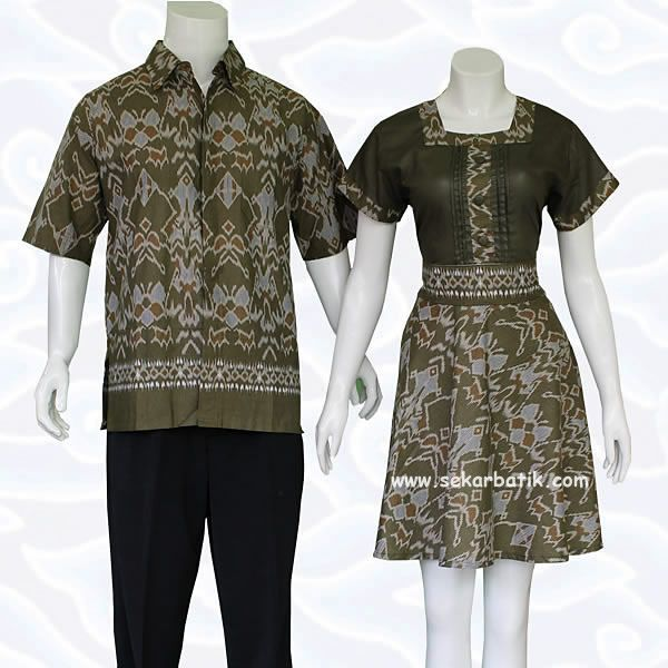 Baju Batik Sarimbit Dress Couple Hijau 70