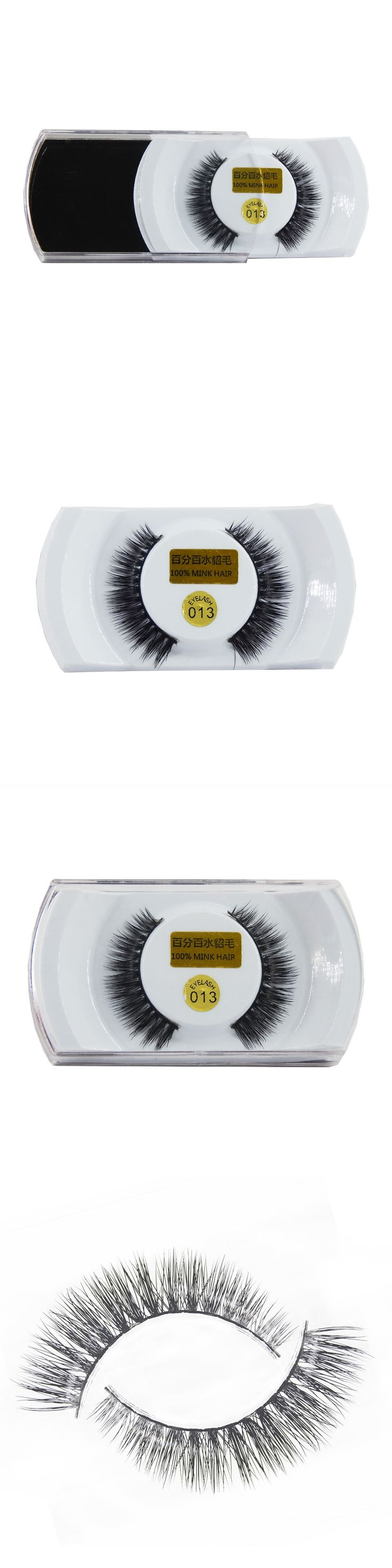 1 Pair Handmade Winged Mink False Eyelashes Popular Super Long Thick Eyelash for Beauty Makeup-EMH013