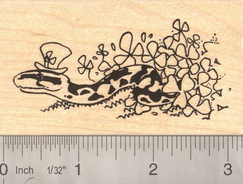 St Patricks Day Snake last snake in Ireland Rubber Stamp ** Read more reviews of the product by visiting the link on the image.