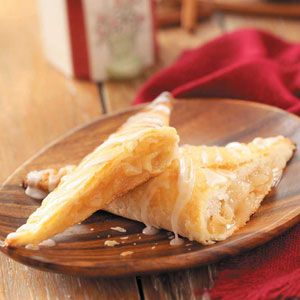 These traditional apple turnovers are tender and flaky, with apple pie-like filling and a thin, white glaze. I freeze the extras and warm them up in the microwave. They're great with coffee. —Dorothy Bayes, Sardis, Ohio    This recipe is:  Contest Winning