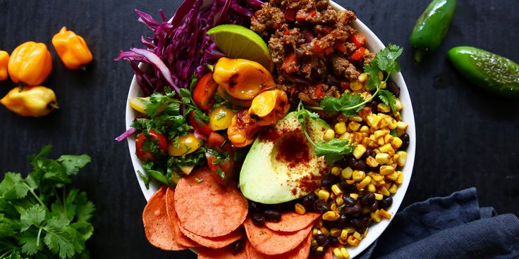 15-Minute Beef Taco Bowl via @iquitsugar