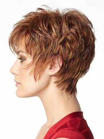 short hair cut left view
