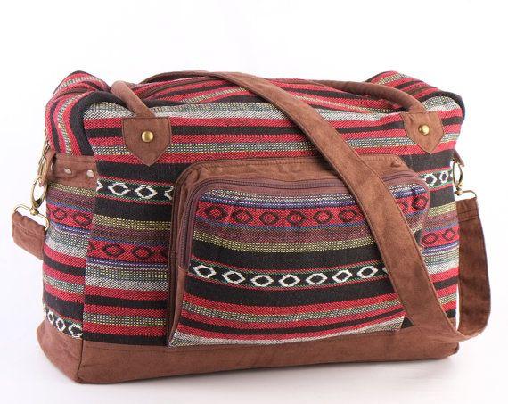 Southwestern Holiday Bag Travel Bag Suitcase Overnight by TaTonYon