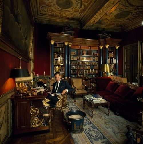 alexis baron de rede in the library designed by georges geffroy at thehotel lambert paris books. Black Bedroom Furniture Sets. Home Design Ideas