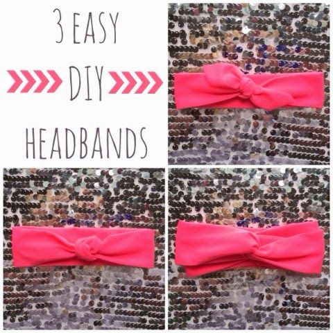 The Blonde Side: Intro: DIY Trendy Jersey Headbands. Simple Easy to Follow Tutorial