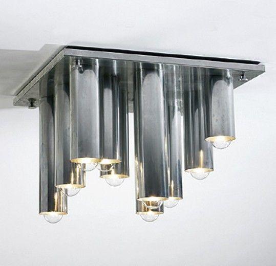 Stalactite Lamp Vladimir Kagan Designs Inc USA 1971 Anodized Aluminum 30 W X