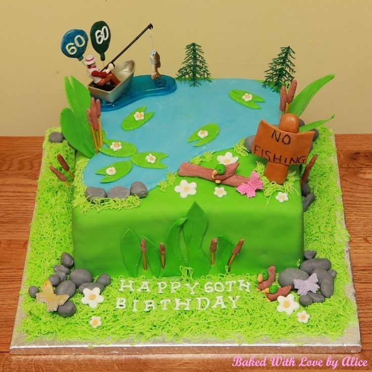 Boat and Fishing Lake Cake | Baked With Love by Alice