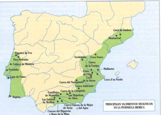 Yacimientos Neolíticos de la Península Ibérica.