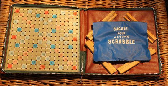 De Luxe Scrabble de voyage Vintage / Jeu de par LeVintageEnfolie