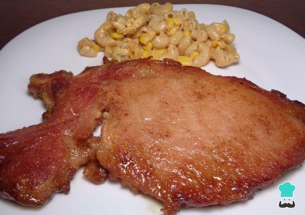 Receta de Chuletas de cerdo al horno con miel