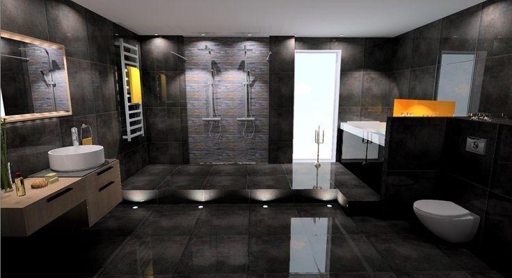 Stort badrum med en lyxig känsla...