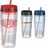 Hot & Cold Swirl Double-Wall Tumbler 20oz - $5.35 (48) or 5.29 (100) with logo - PromoManagers. Pricing includes a one color imprint, setup and UPS Ground in the lower 48.