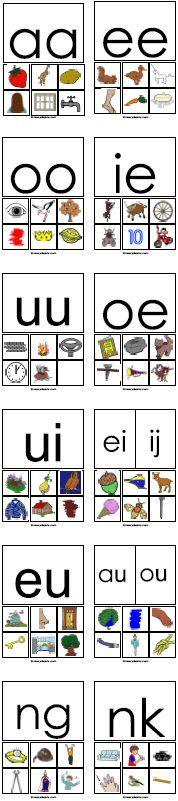 ABC lettermuur: dubbele letters