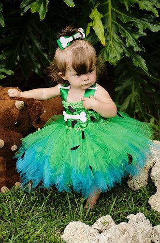 Pebbles costume pebbles tutu dress pebbles by GlitterMeBaby, $60.00