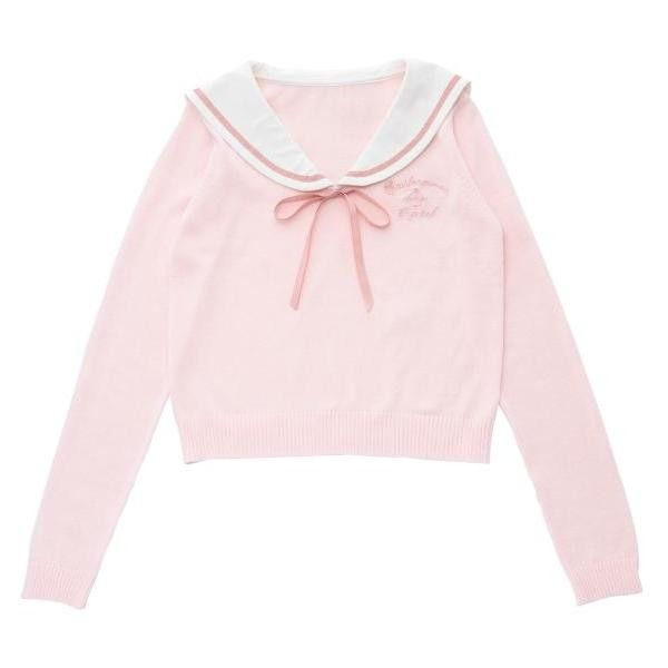 《Tralala with 美少女戦士セーラームーンCrystal》セーラーニットトップス Tralala(トゥララ) Tokyo... ❤ liked on Polyvore featuring tops, kawaii and long sleeved