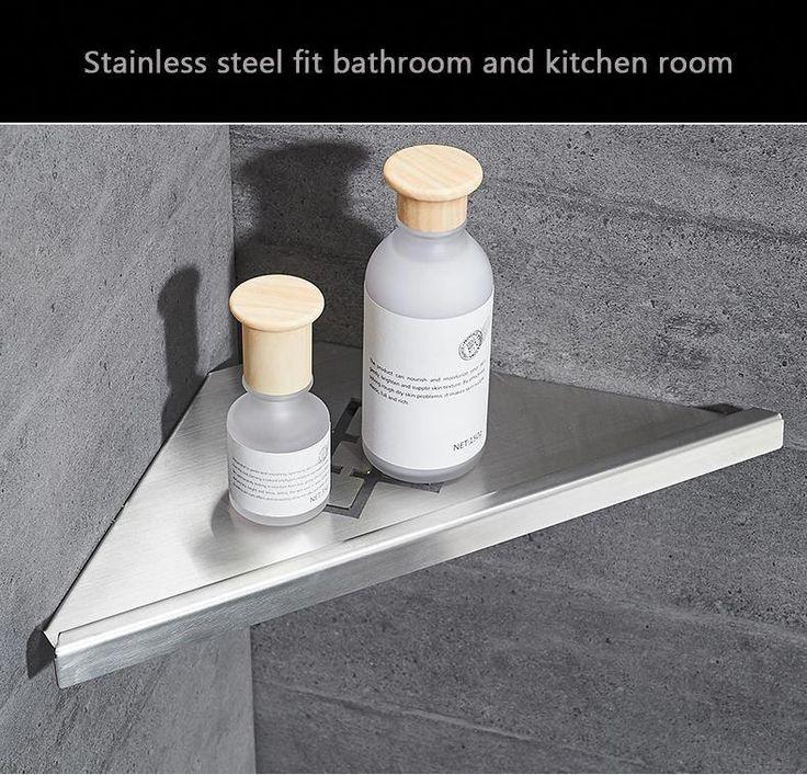 Bathroom Shelves Stainless Steel Storage Basket Shower Room Commodity Rack Soap …   – Bathroom shelves