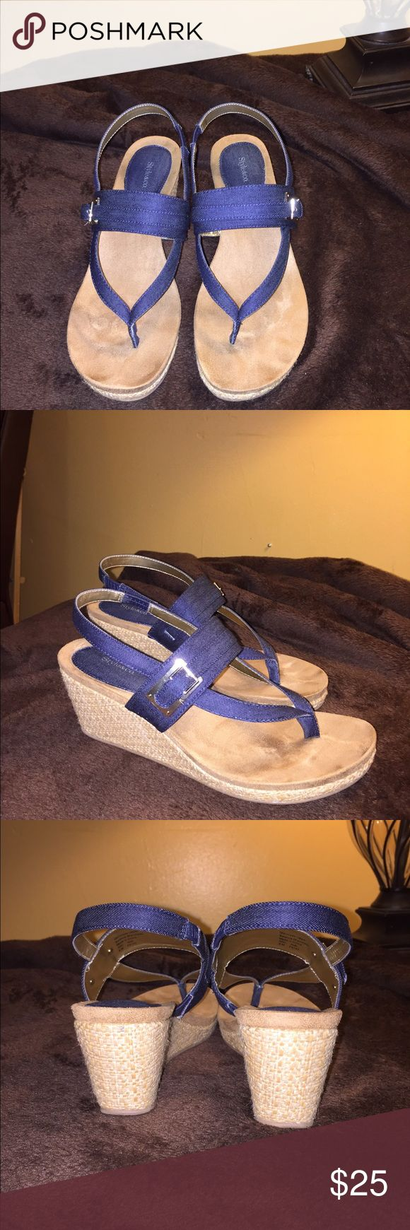 Style & co. Navy blue sandals Navy blue sandals beautiful and they r in very good condition Style & Co Shoes Sandals