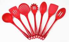 7 Pieces Silicone  Cooking Tools Set Nylon materials through food testing kitchen set