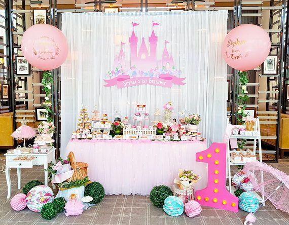 Digital File Princess Castle Party Decoration 60x40inch Backdrop