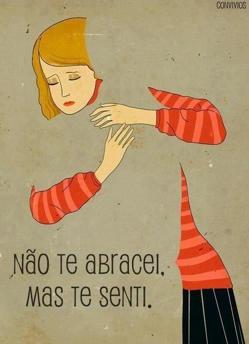 Queria morar no teu abraço. ❤