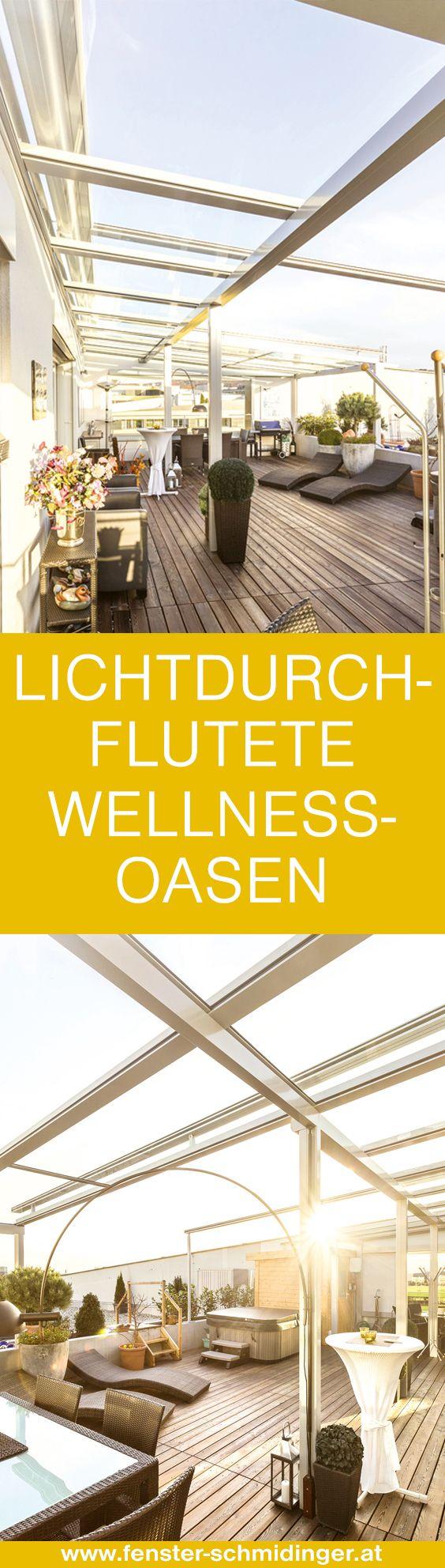 #Lichtdurchflutete #Wellnessoasen auf der #Terrasse - Mehr Projektfotos findest Du in unserer Projektgalerie auf www.wintergarten-schmidinger.at/projekte