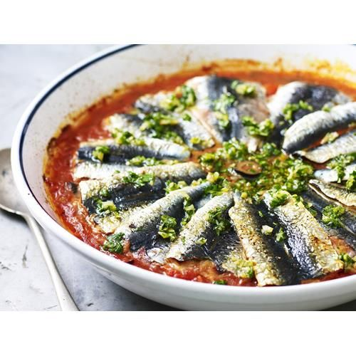 Sardines with preserved lemon salsa recipe - By Australian Women's Weekly, A beautiful and flavour-packed sardines with preserved lemon salsa from Australian Women's Weekly.