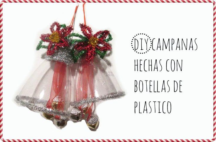 DIY CAMPANA HECHA CON BOTELLA DE PLASTICO Y LIMPIA PIPAS