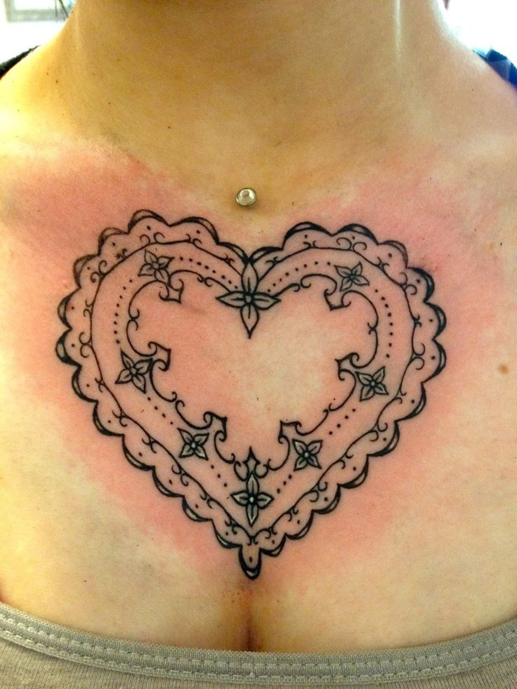 22 best lace heart tattoos for women images on pinterest for Rose heart tattoo