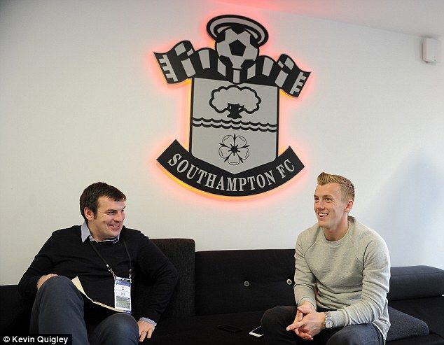The Saints rising star was speaking in an interview with Sportsmail's Dominic King (left)