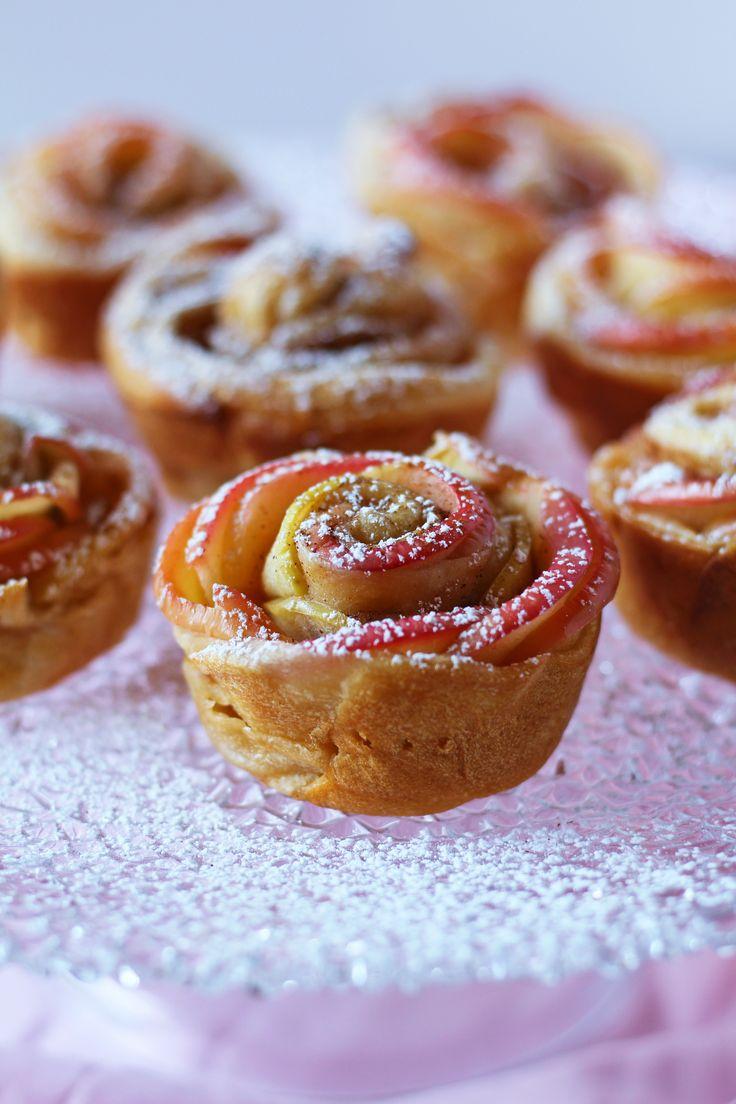 Honeycrisp Apple Roses Recipe Apple roses, Dessert