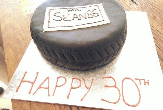 Sean's tyre cake