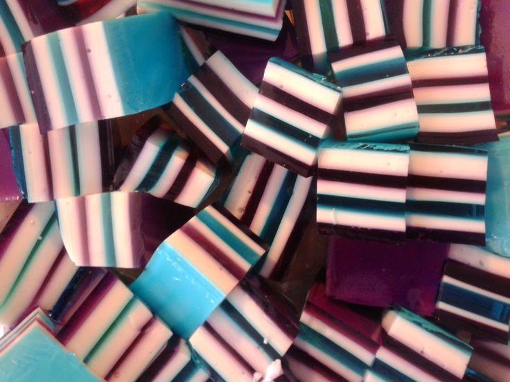 Cubos de gelatina - colores Frozen