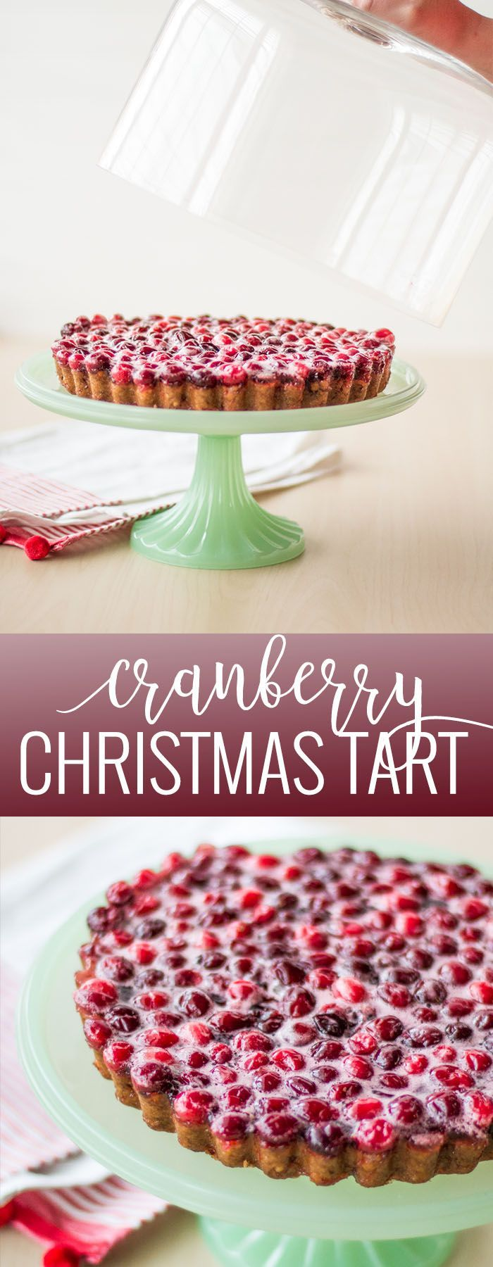 Christmas Cranberry Tart | nut crusted cranberry tart | holiday dessert recipes | holiday sweets and treats | homemade holiday desserts | christmas dessert recipes | homemade cranberry tart | cranberry dessert recipes || Oh So Delicioso #cranberrytart #holidaydesserts #christmasdesserts