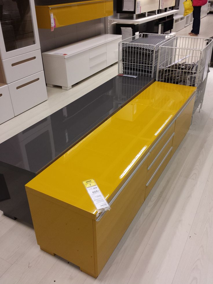 Ikea Besta Wall Mount Kit : Mustard yellow, Storage benches and Mustard on Pinterest