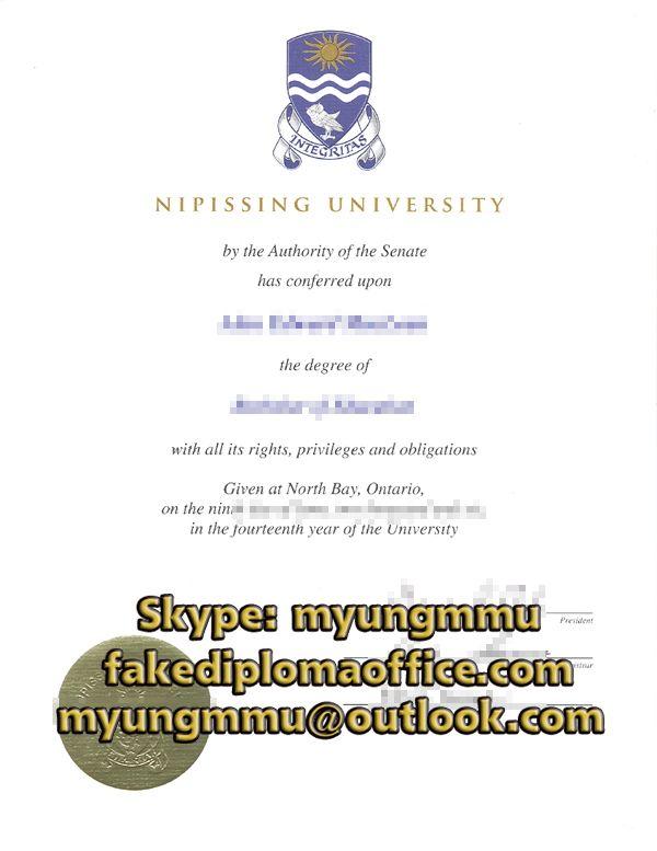 buy fake Nipissing University degree,bachelor diploma from Nipissing University. buy diploma, buy masters diploma, buy bachelor diploma, fake degree, where to buy degree.  skype: myungmmu  em: myungmmu@outlook.com
