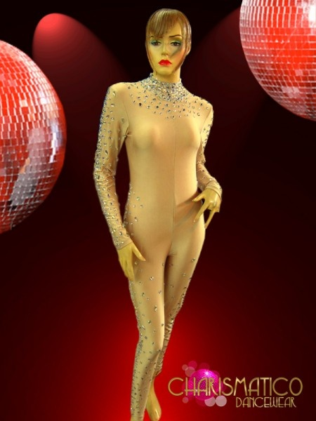Charismatico Dancewear Store - CHARISMATICO Nude Spandex Catsuit Styled Body Stocking with Iridescent Crystal Detailing, $229.00 (http://www.charismatico-dancewear.com/products/CHARISMATICO-Nude-Spandex-Catsuit-Styled-Body-Stocking-with-Iridescent-Crystal-Detailing.html)