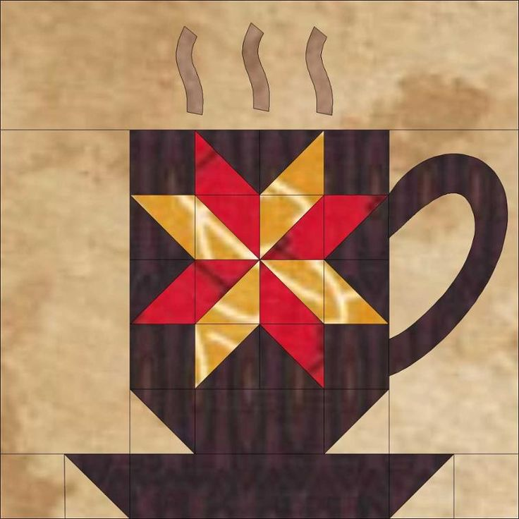 Free Quilt Pattern: BREWtiful Mugs Quilt B.O.M.
