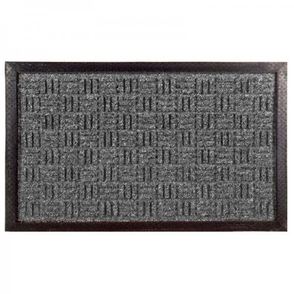 "Synthetic Weave Rubber Door Mat (Gray) (0.25""H x 36""W x 24""D)"