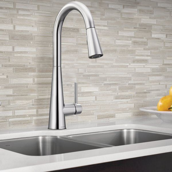Sleek Pull Down Single Handle Kitchen Faucet With Power Boost
