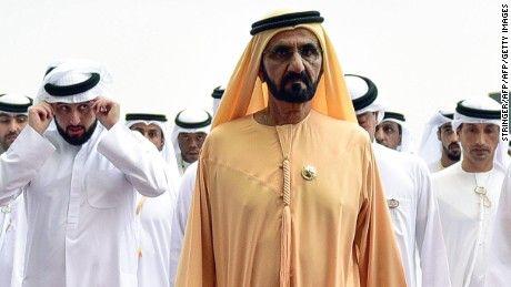 UAE Prime Minister and Ruler of Dubai Sheikh Mohammed bin Rashid al-Maktoum arrives to visit the Meydan Racecourse on March 25, 2017 in Dubai. / AFP PHOTO / Abdulqader  AL-ANI        (Photo credit should read ABDULQADER  AL-ANI/AFP/Getty Images)