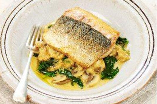 Sea bass with lemon sauce | Poisson | Pinterest