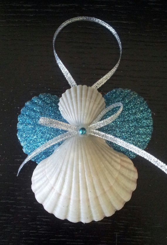 Seashell Angel Beach Ornament Angel Ornament by SusysSeashells