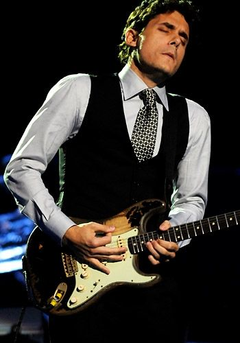 John Mayer - classy outfit and playing his heart out