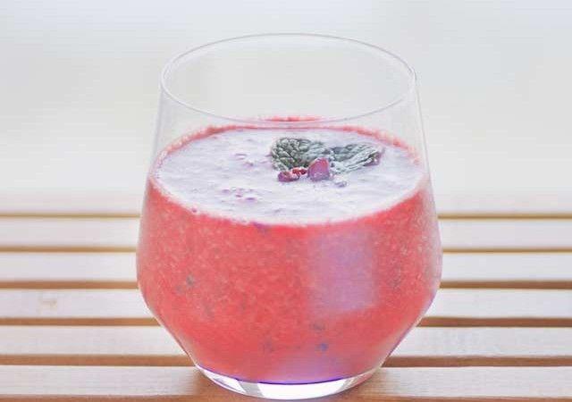 granaatappel smoothie - pomegranate smoothie