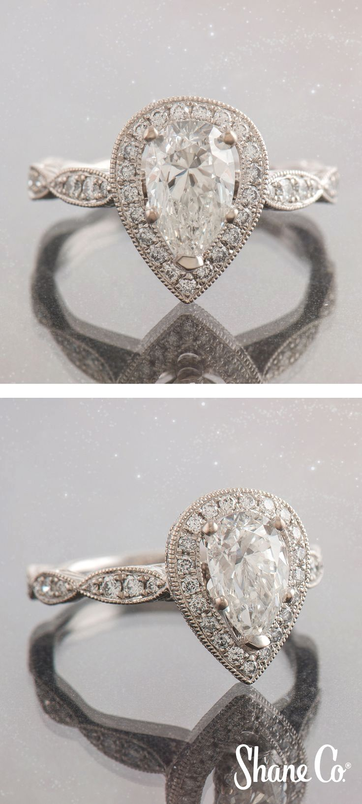 If you love vintage inspired engagement rings then you will go crazy over this @shaneco engagement ring!