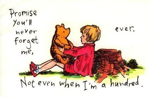 You'll never forget me: True Friendship, Best Friends, Pooh Bears, Bestfriends, Winniethepooh, Sweet Girls, Winnie The Pooh, Love Quotes, Christopher Robins
