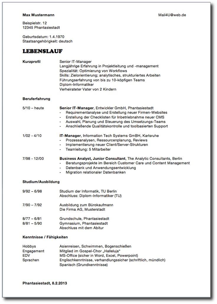 Niedlich Schwermaschinenmechanik Lebenslauf Beispiele Galerie ...