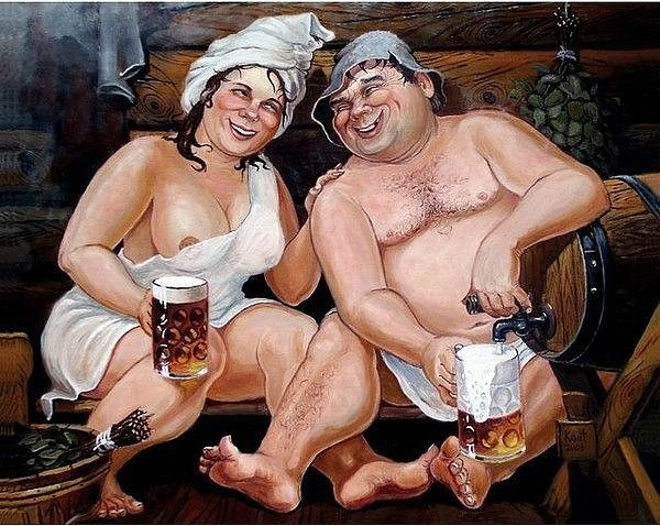 Пиво в баньке - красота | Картинки, Женские тела, Картины